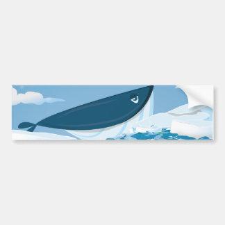 Ballena ártica etiqueta de parachoque