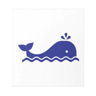 Ballena azul bloc de papel