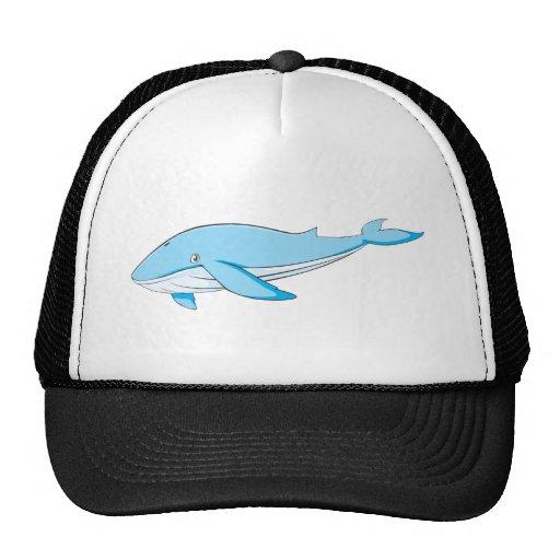 Ballena azul feliz gorra
