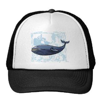 Ballena azul feliz gorros