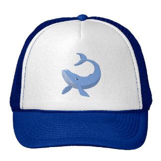 Ballena azul linda gorros