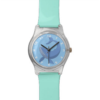 Ballena azul linda relojes