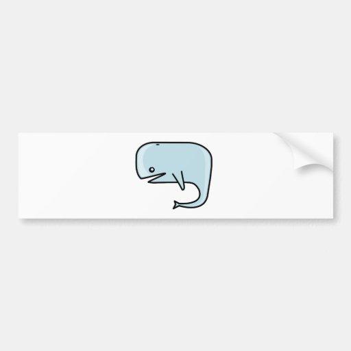 Ballena azul pegatina para auto