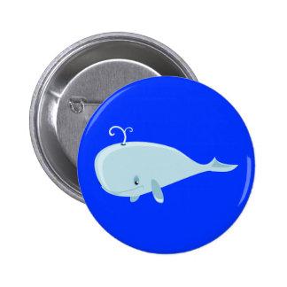 Ballena azul pin redondo 5 cm