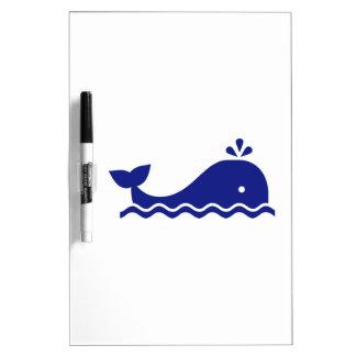 Ballena azul pizarras blancas de calidad