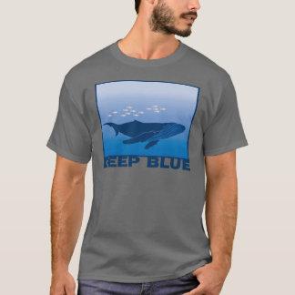 Ballena azul profunda playera