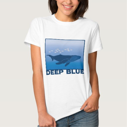 Ballena azul profunda playeras