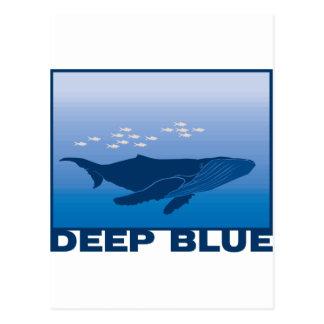 Ballena azul profunda tarjeta postal
