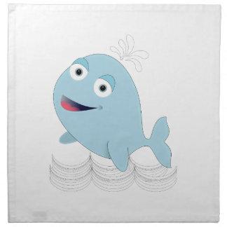 Ballena azul servilletas