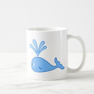 Ballena azul tazas