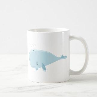 Ballena azul taza básica blanca
