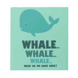 Ballena, ballena, ballena blocs de notas