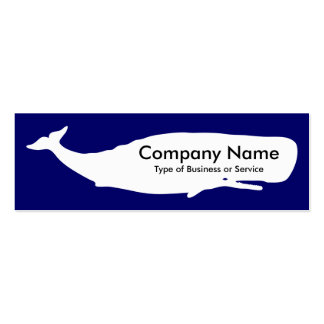 Ballena - blanco en la marina de guerra profunda tarjetas de visita mini