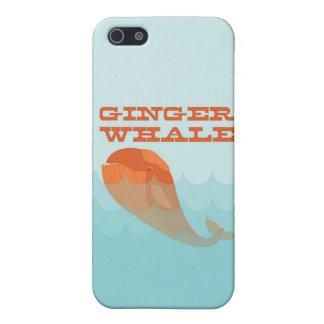 Ballena con una natación roja del toupee en el océ iPhone 5 funda
