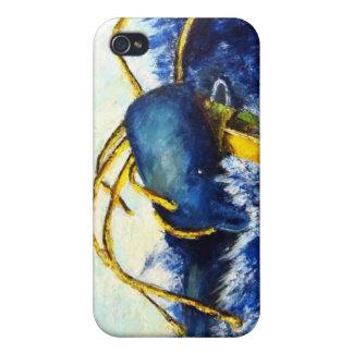 Ballena contra el calamar colosal que pinta el cas iPhone 4/4S carcasa