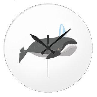 Ballena de Baleen Reloj Redondo Grande