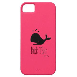 Ballena de Bink Thig™_Black-on-Red Funda Para iPhone SE/5/5s