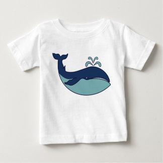 Ballena de esperma azul - camiseta del bebé