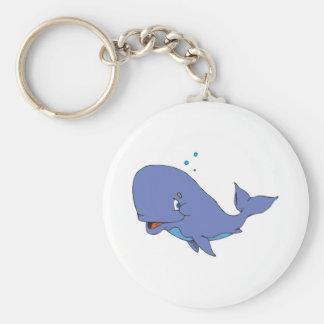 ballena de esperma linda llavero redondo tipo pin