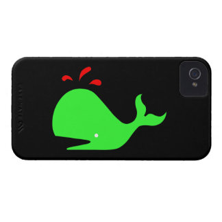 Ballena de Glow_Spouty del océano verde clara, iPhone 4 Case-Mate Cárcasa