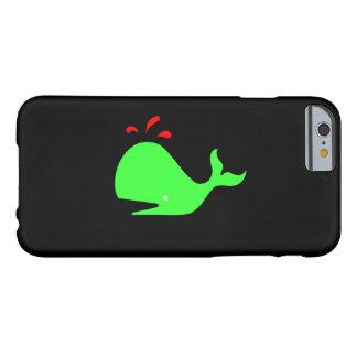 Ballena de Glow_Spouty del océano verde clara, Funda De iPhone 6 Barely There