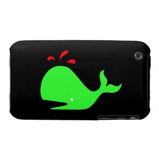 Ballena de Glow_Spouty del océano verde clara, Funda Para iPhone 3 De Case-Mate