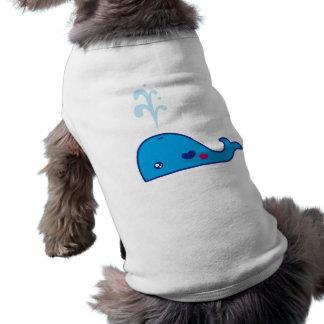 Ballena de Kawaii Camiseta De Mascota