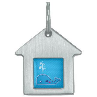Ballena de Kawaii Placas Mascota