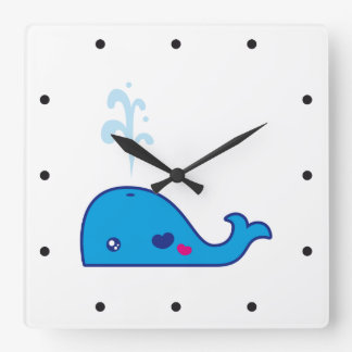 Ballena de Kawaii Reloj