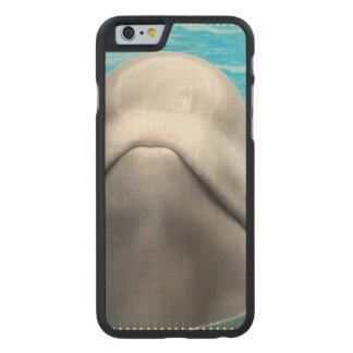 Ballena de la beluga funda de iPhone 6 carved® slim de arce