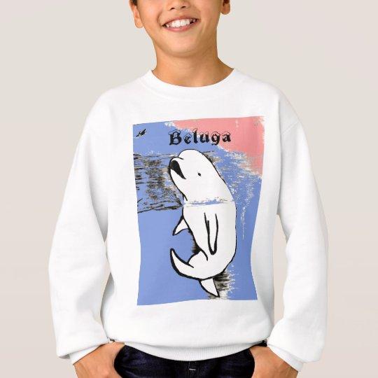 Ballena de la beluga sudadera