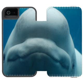 Ballena de la beluga funda cartera para iPhone 5 watson