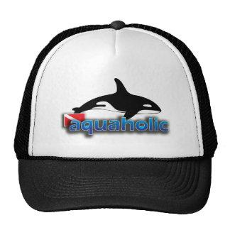 Ballena de la orca de Aquaholic Gorros Bordados