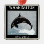 Ballena de la orca de Washington Ornamento De Reyes Magos