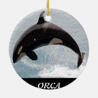 Ballena de la orca de Washington Adorno Redondo De Cerámica