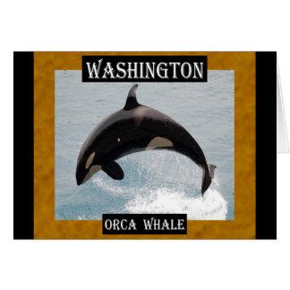Ballena de la orca de Washington Tarjeta De Felicitación