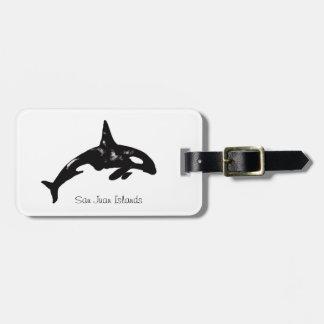 Ballena de la orca etiquetas para maletas