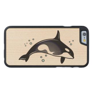Ballena de la orca funda de iPhone 6 carved® slim de arce
