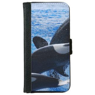 Ballena de la orca funda cartera para iPhone 6