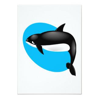 """ballena de la orca invitación 5"""" x 7"""""""