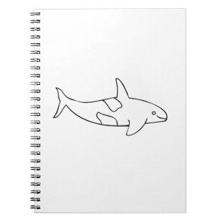 Ballena de la orca cuaderno
