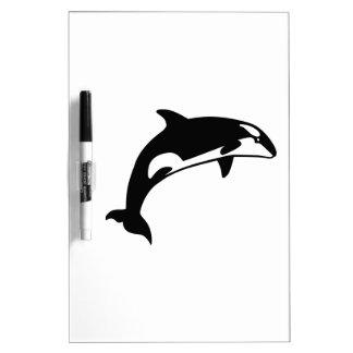 Ballena de la orca pizarras blancas de calidad