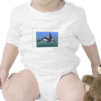 Ballena de la orca traje de bebé