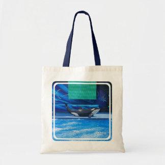 Ballena de la orca que muestra apagado bolsa tela barata