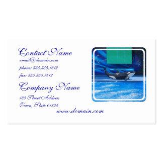 Ballena de la orca que muestra apagado tarjetas de visita