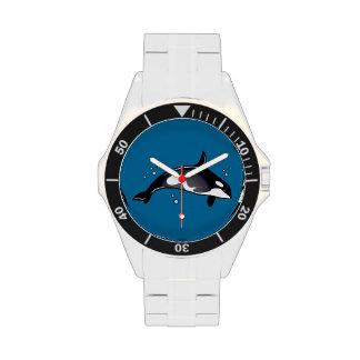 Ballena de la orca relojes de pulsera