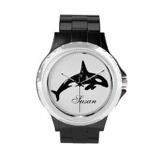 Ballena de la orca relojes