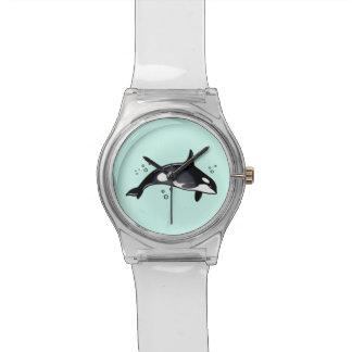 Ballena de la orca reloj de mano