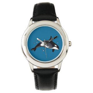 Ballena de la orca relojes de mano