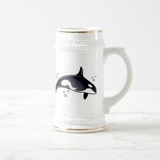 Ballena de la orca tazas de café